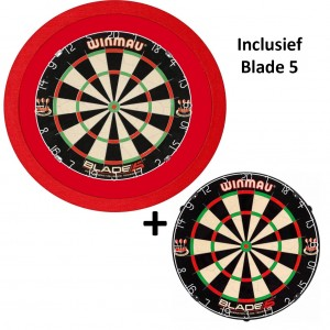 TCB X-Ray 3.0 Luxe LED verlichting inclusief Winmau Blade 5 - rood