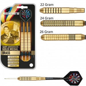 Gary Anderson Gold Medal Brass Steel Tip Darts