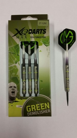 XQ-MAX Michael Van Gerwen 70% Green Demolisher