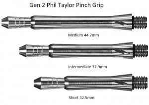 Titanium Phil Taylor Gen 2 Pinch Grip Shaft