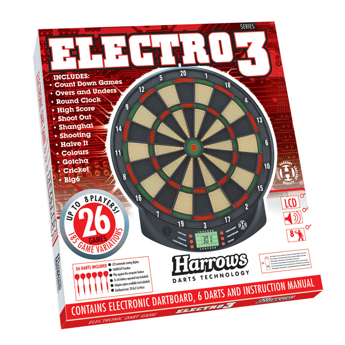 Harrows Electro Series 3 Dart Game Dartbord Dedartshop Nl