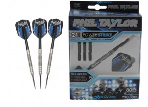 Phil Taylor Power Strike 21 Gram 80% Tungsten Target dartpijlen