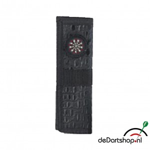 Darts Etui Kroko Look Black Leder