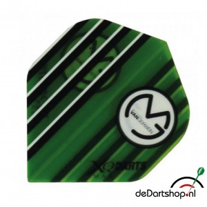 Flight Michael van Gerwen XQM Transparant Groen Stripes