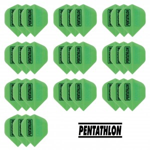 10 Sets Pentathlon 100 micron flights - Groen