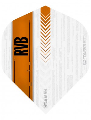 Raymond van Barneveld Ultra Vision White and Orange Dart Flights