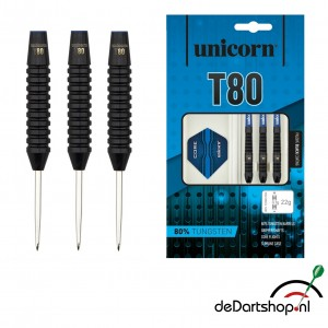 T80 Black Type 1 80% Tungsten Unicorn dartpijlen