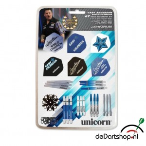 Gary Anderson World Champion Accesory Kit 64 onderdelen