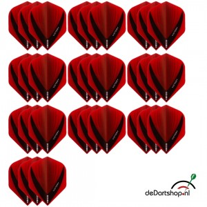 10 - Sets XS100 Vista 100 micron flights - Rood