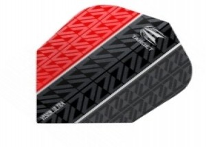 Vapor 8 Black Vision Ultra Flight Rood - target dartflights