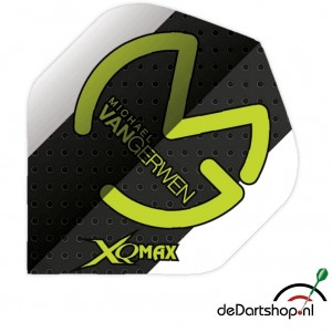 Flight Michael van Gerwen White Black Dots XQ Max - darts flight