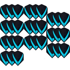 10 Sets Vista-X 100 micron flights - Aqua - darts flights