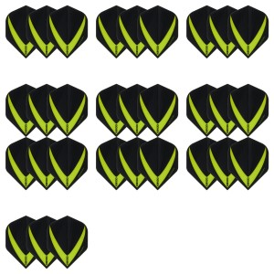 10 Sets Vista-X 100 micron flights - Groen - darts flights