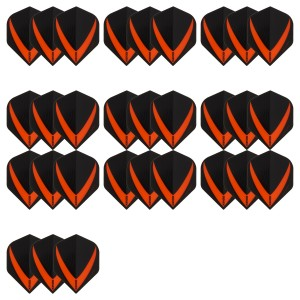 10 Sets Vista-X 100 micron flights - Oranje - darts flights