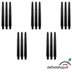 5 sets - Deflecta nylon - zwart - medium