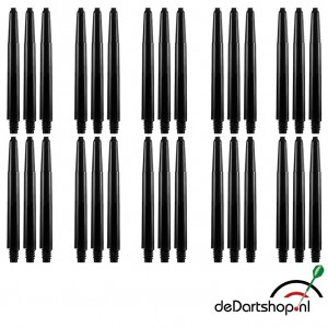 10 sets - Deflecta nylon - zwart - medium