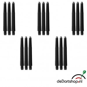 5 sets - Deflecta nylon - zwart - Intermediate