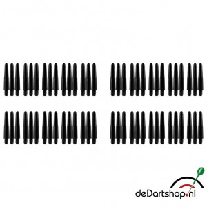 20 sets - Deflecta nylon - zwart - Extra Short