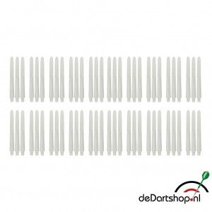 Natural White - Medium - 20 sets - Deflecta nylon - darts shafts