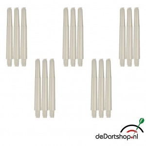 Natural White - Intermediate - 5 sets - Deflecta nylon - darts shafts
