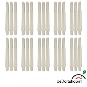 Natural White - Intermediate - 10 sets - Deflecta nylon - darts shafts