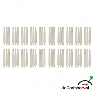 Natural White - Intermediate - 20 sets - Deflecta nylon - darts shafts