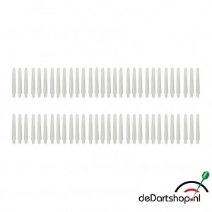Natural White - Short - 20 sets - Deflecta nylon - darts shafts