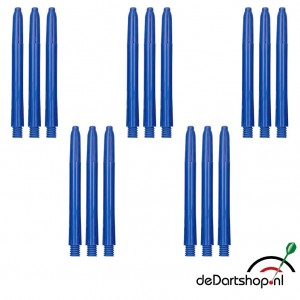 Blauw - Medium - 5 sets - Deflecta nylon - darts shafts