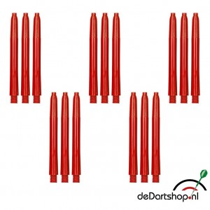 Rood - Medium - 5 sets - Deflecta nylon - darts shafts