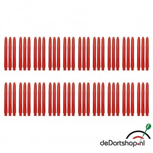 Rood - Medium - 20 sets - Deflecta nylon - darts shafts