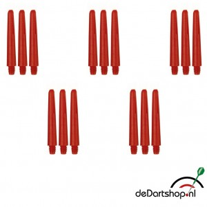 Rood - Short - 5 sets - Deflecta nylon - darts shafts