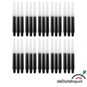 Two Tone - Zwart-Wit - Medium - 10 sets - Deflecta nylon - darts shafts