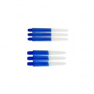 Two Tone Blue/White M of S - Deflectagrip - darts shafts
