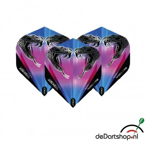 Peter Wright Snakebite Black Transparent Dart Flights - Red Dragon - darts flights