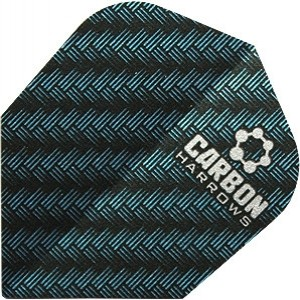 Flight Harrows Carbon Blue - darts flights