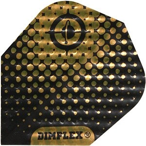 Flight Dimplex Black/Gold - harrows - darts flights