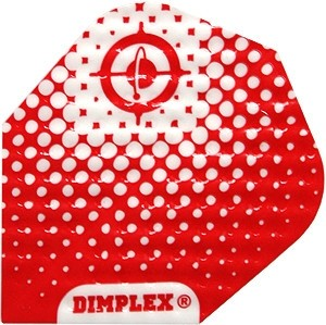 Flight Dimplex Red/White - harrows - darts flights