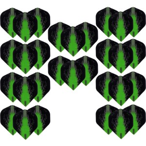 10 - Sets High Impact 100 micron flights - Groen - darts flights