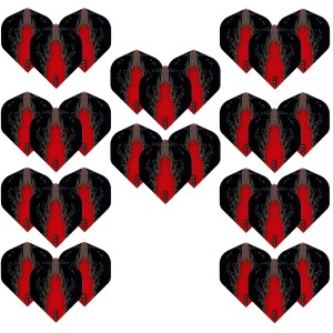 10 - Sets High Impact 100 micron flights - Rood - darts flights
