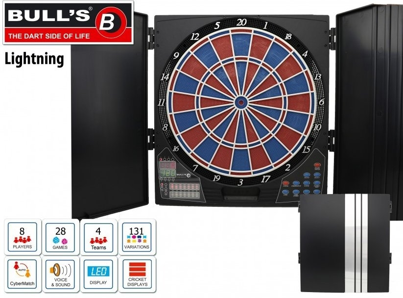 Dartbord In Kast : Bulls lightning electronisch dartbord inclusief kabinet