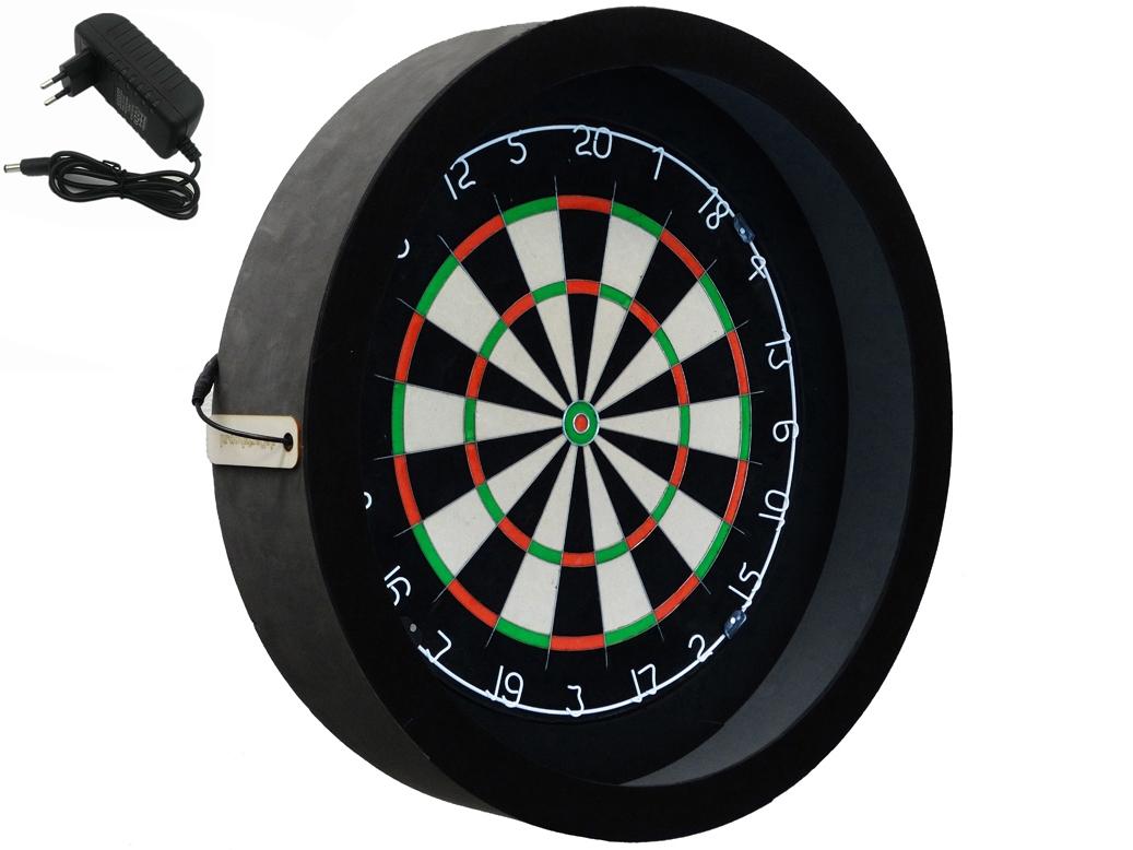 dragon sorpresa pro zwart dartbord verlichting