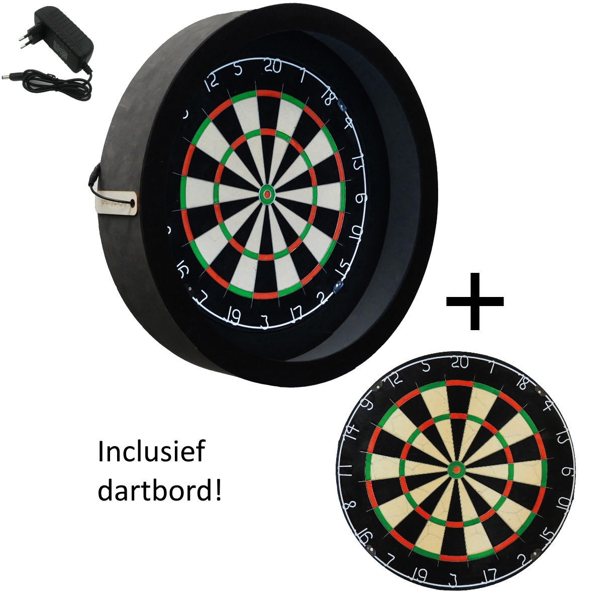 sorpresa pro dartbord verlichting inclusief a merk top dartbord zwart