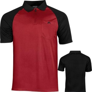 Mission - Exos Cool Dartshirt - Zwart/Rood