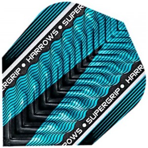 Flight Supergrip X Metallic Blue harrows flights