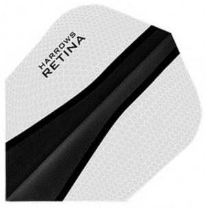 Flight Retina White/Black - darts flight