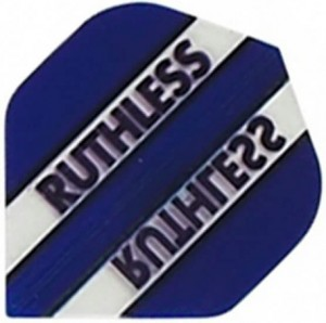 Flight Ruthless Clear and Dark Blue - darts flights