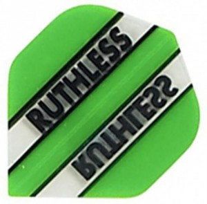 Flight Ruthless Clear and Green - darts flights