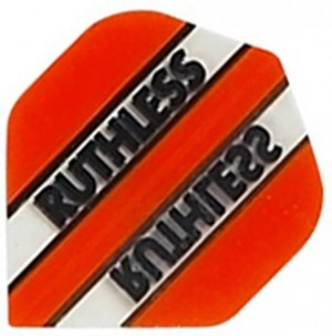 Flight Ruthless Clear and Orange - darts flights