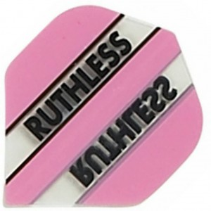 Flight Ruthless Clear and Pink - darts flights