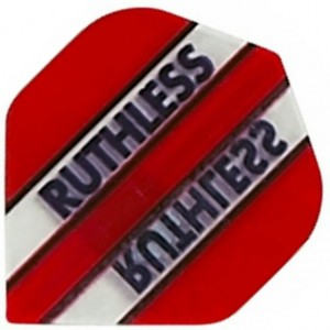 Flight Ruthless Clear and Red - darts flights